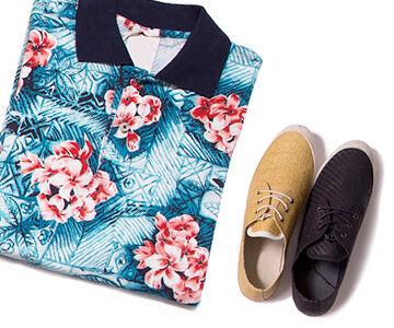 roupa e sapatos